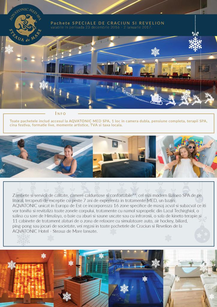 Craciun si Revelion 2017 la Aqvatonic Hotel - Steaua de Mare