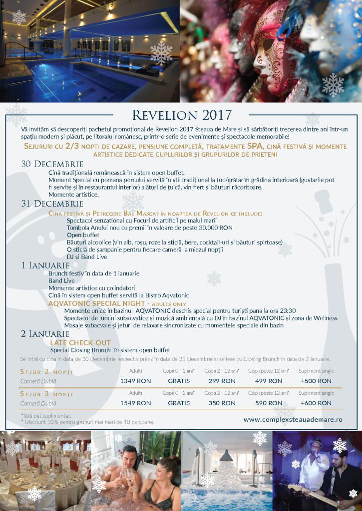 Revelion 2017 la Aqvatonic Hotel - Steaua de Mare