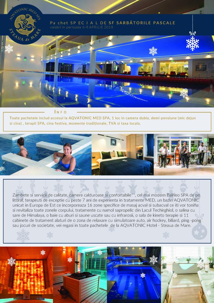 Sarbatori Pascale 2018 la AQVATONIC BALNEO SPA & Hotel Steaua de Mare
