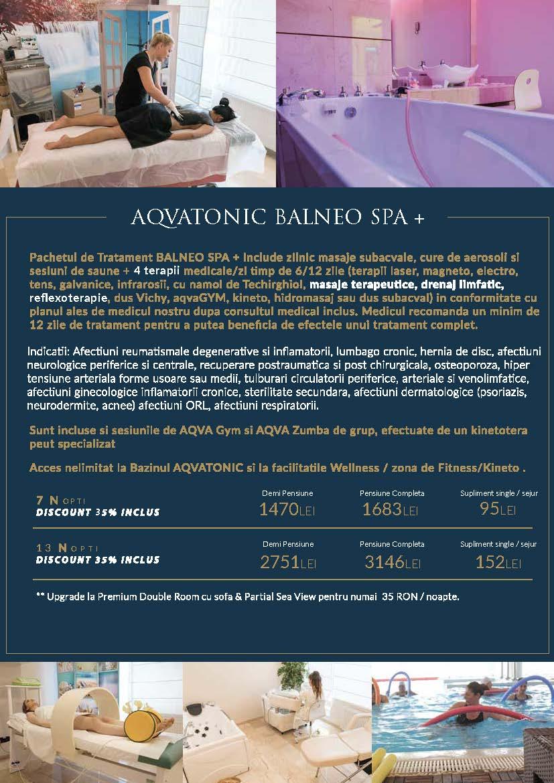 Pachete AQVATONIC BALNEO SPA & Hotel 2018-2019